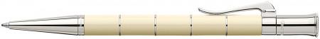 Graf von Faber-Castell Classic Anello Ballpoint Pen - Ivory Platinum Trim