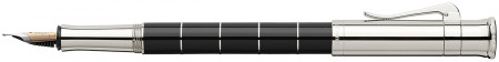 Graf von Faber-Castell Classic Anello Fountain Pen - Black Platinum Trim