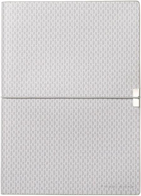 Hugo Boss Storyline A5 Notepad - Epitome Light Grey