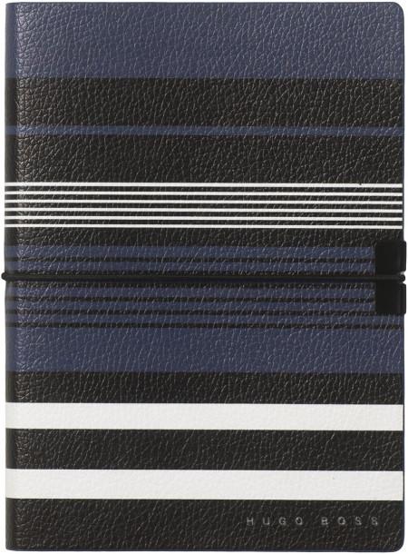 Hugo Boss Storyline A6 Notepad - Blue Stripes