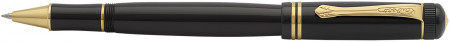 Kaweco DIA 2 Rollerball Pen - Black Gold Trim