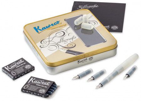 Kaweco Frosted Sport Calligraphy Set - Natural Coconut (Large)