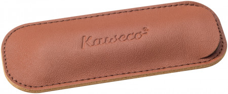 Kaweco Eco Leather Pouch for Sport Pens - Brandy - Double