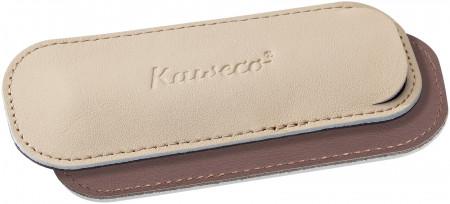 Kaweco Eco Leather Pouch for Sport Pens - Creamy Espresso - Double