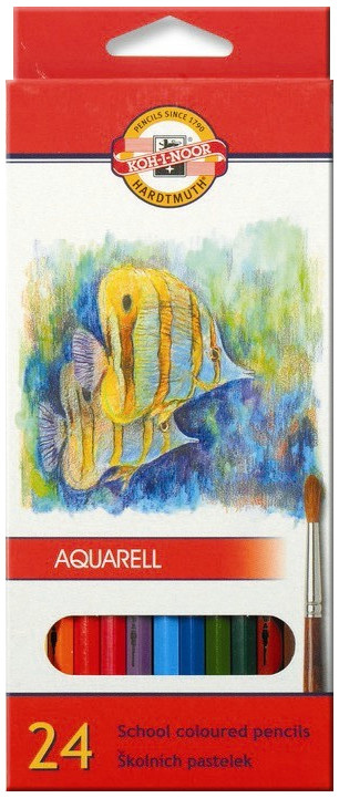 Koh-I-Noor 3718 Aquarell Coloured Pencils - Assorted Fish Colours (Pack of 24)