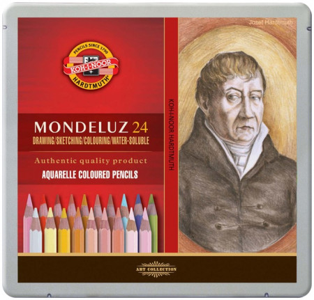 Koh-I-Noor 3724 Aquarell Coloured Pencils - Assorted Portrait Colours (Tin of 24)