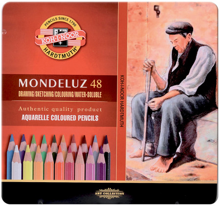Koh-I-Noor 3726 Aquarell Coloured Pencils - Assorted Colours (Tin of 48)