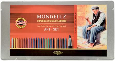 Koh-I-Noor 3796 Aquarell Mondeluz Drawing Set - Assorted Colours