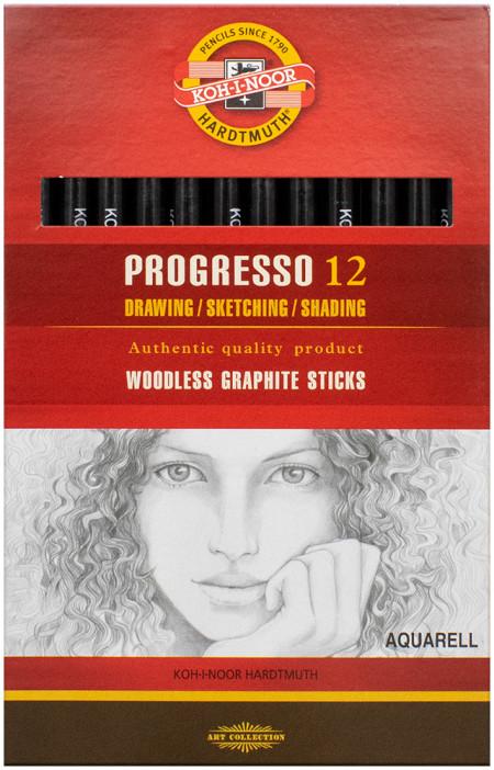 Koh-I-Noor 8912 Aquarell Woodless Graphite Pencil - 4B (Box of 12)