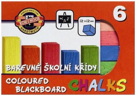 Koh-I-Noor Coloured Blackboard Chalks - Assorted Colours (Pack of 6)