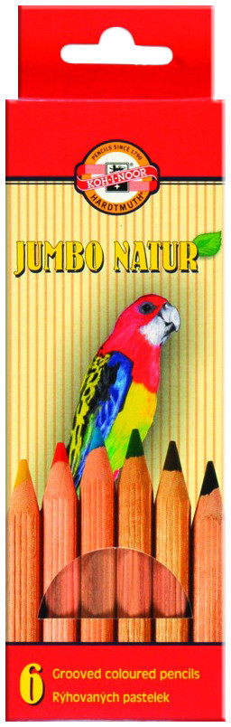 Koh-I-Noor 2171 Jumbo Coloured Pencils - Assorted Colours (Pack of 6)