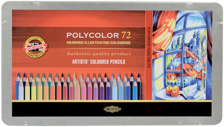 Koh-I-Noor 3827 Coloured Pencils - Assorted Colours (Tin of 72)