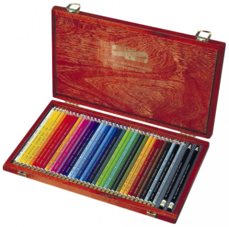 Koh-I-Noor 3895 Coloured Pencils - Assorted Colours (Wooden Case of 36)