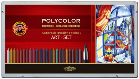 Koh-I-Noor 3896 Drawing Set with Polycolor Leads & Clutch Pencil