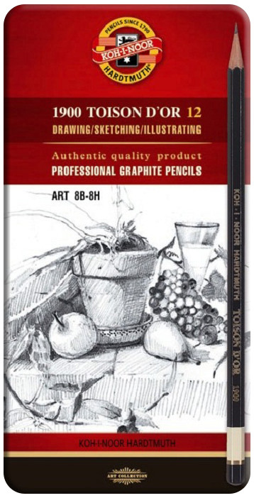 Koh-I-Noor 1902 Graphite Pencils - 8B to 8H (Tin of 12)