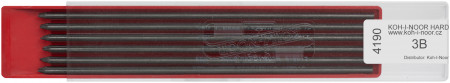 Koh-I-Noor 4190 Graphite Lead 2.0mm x 120mm - 3B (Plastic Case of 6)