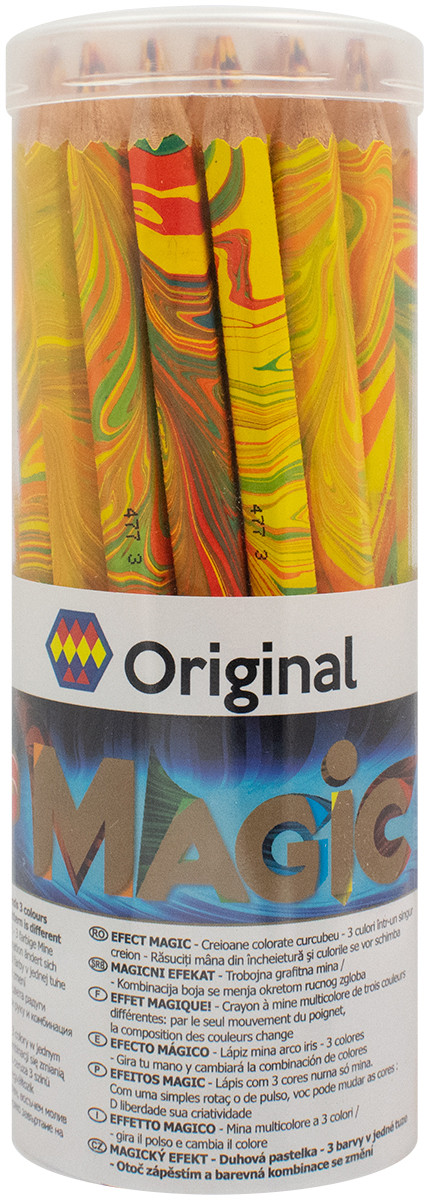 Koh-I-Noor 3405 Jumbo Special Coloured Magic Pencils - Original (Tube of 30)