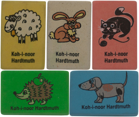 Koh-I-Noor 6875 Office Eraser - Random Animal Print