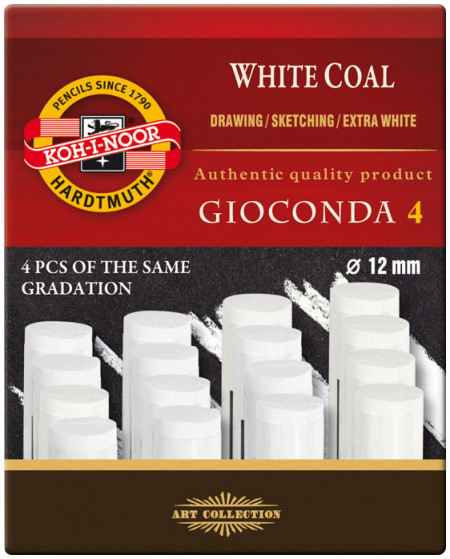 Koh-I-Noor 8692 Artificial Extra White Coals - Hard (Pack of 4)
