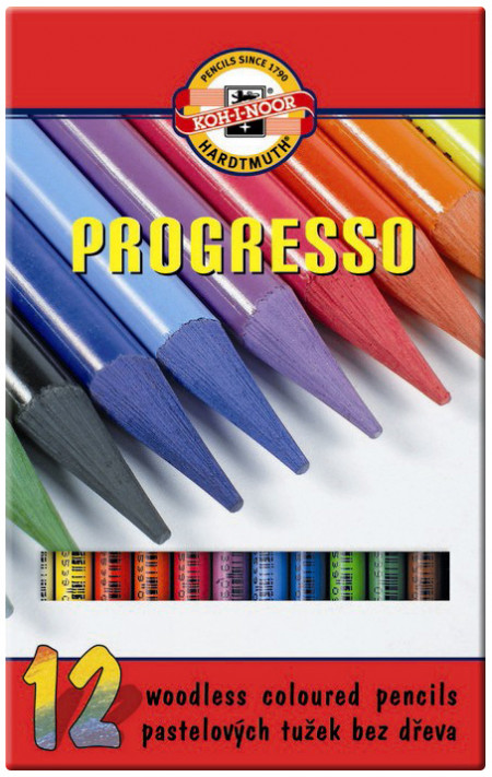 Koh-I-Noor 8756 Woodless Coloured Pencil - Assorted Colours (Pack of 12)