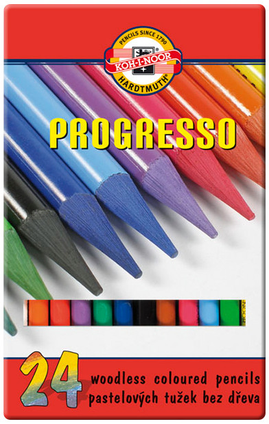 Koh-I-Noor 8758 Woodless Coloured Pencil - Assorted Colours (Pack of 24)