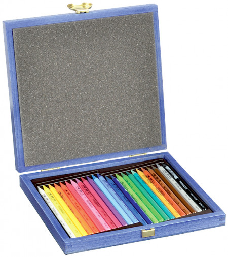 Koh-I-Noor 8758 Woodless Coloured Pencil - Assorted Colours (Wooden Case of 24)