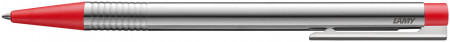 Lamy Logo Ballpoint Pen - Matte Red Chrome Trim
