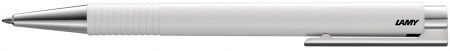 Lamy Logo Ballpoint Pen - White Chrome Trim