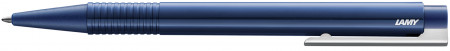 Lamy Logo Ballpoint Pen - Blue Chrome Trim