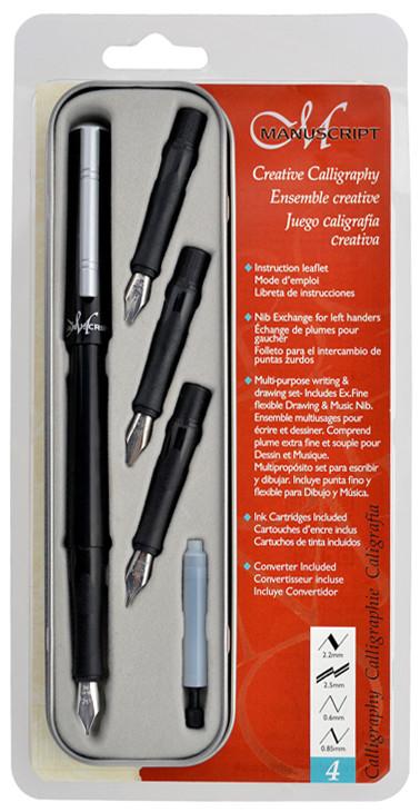 Manuscript Classic Calligraphy Pen Set - Creative 4 Nibs