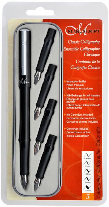 Manuscript Classic Calligraphy Pen Set - Classic 5 Nibs
