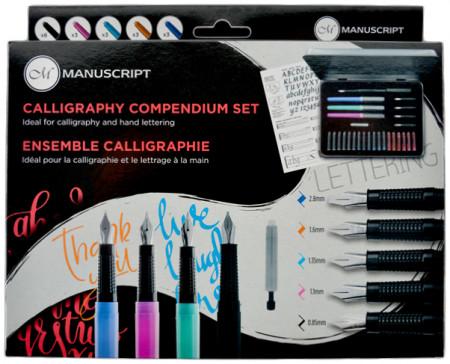 Manuscript Calligraphy Compendium - 30 Piece Handwriting Set