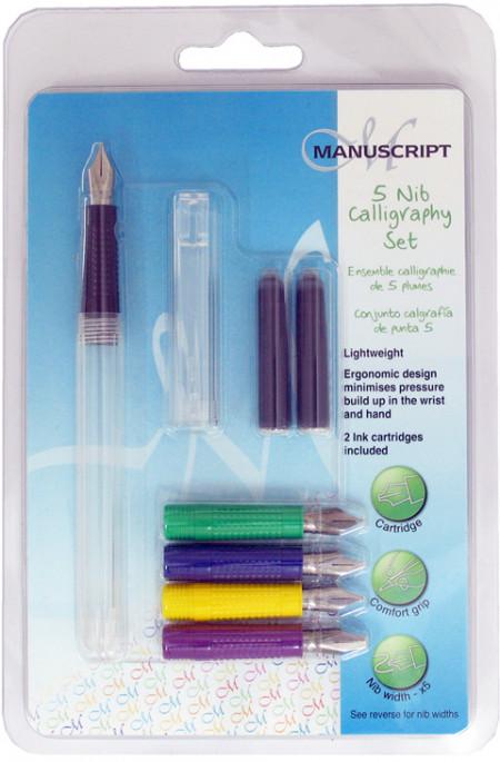 Manuscript Creative Calligraphy Pen Set - 5 Nibs