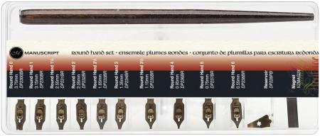 Manuscript Dip Pen Calligraphy Set - Round hand