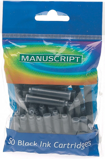 Manuscript Ink Cartridges - Black (Pack of 50)