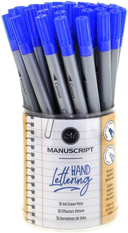 Manuscript Ink Eraser Corrector - Mini (Tub of 36)