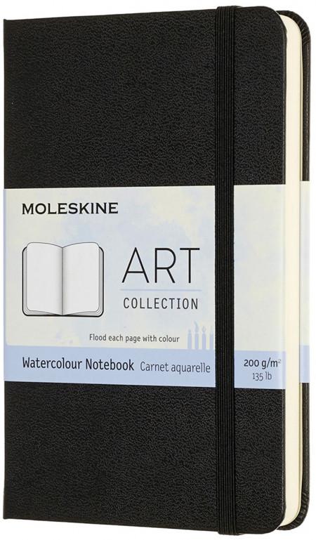 Moleskine Art Pocket Watercolour Notebook - Black