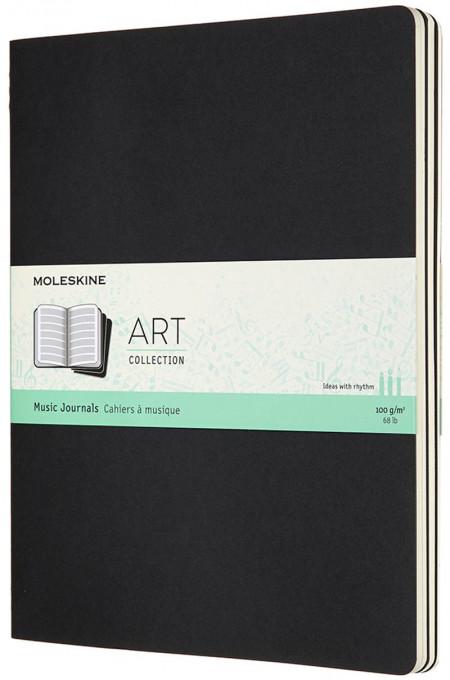 Moleskine Art Music Cahier Extra Large - Black - Set of 3
