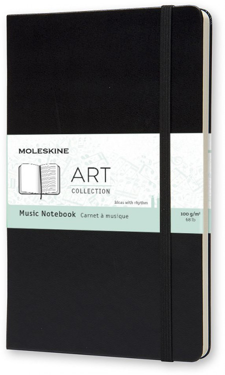 Moleskine Art Music Large Notebook - Black