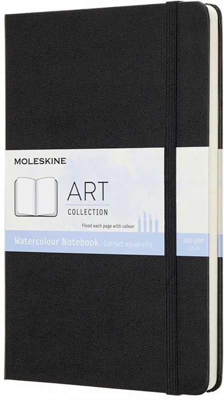 Moleskine Art Large Watercolour Notebook - Black