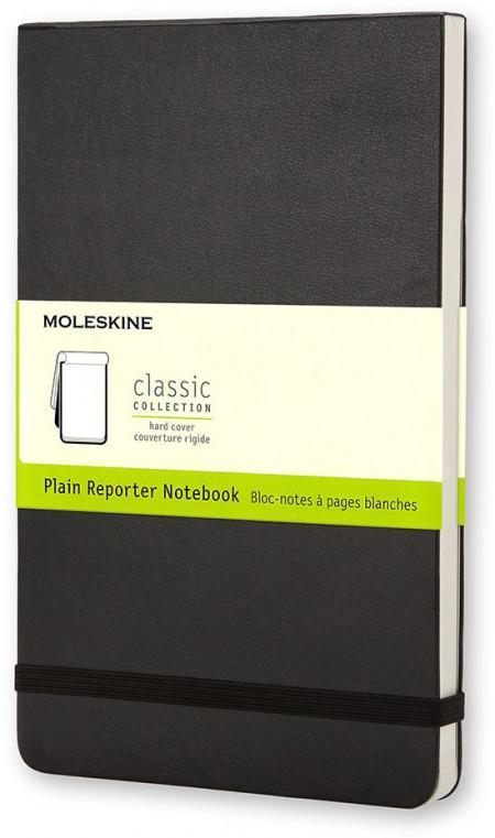 Moleskine Reporter Hardback Pocket Notebook - Plain - Black