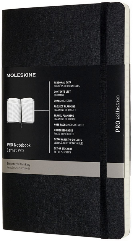Moleskine Pro Soft Cover Large Notebook - Assorted