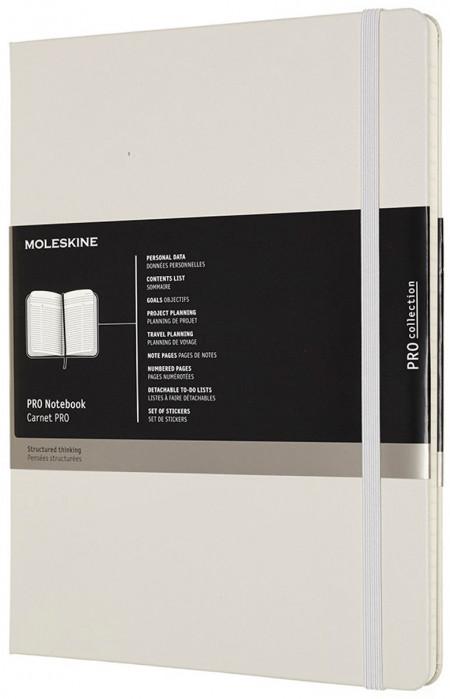Moleskine Pro Hardback Extra Large Notebook - Black - Assorted