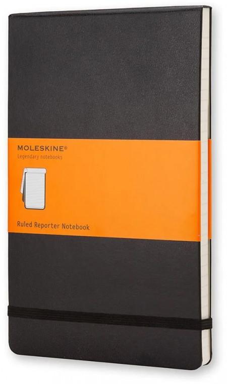 Moleskine Reporter Hardback Pocket Notebook - Ruled - Black
