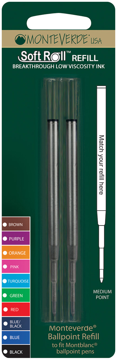 Monteverde Soft Ballpoint Refill To Fit Montblanc (Blister of 2)
