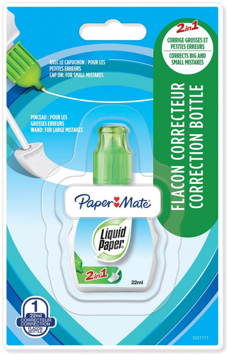 Papermate Correction Fluid - Dual Tip
