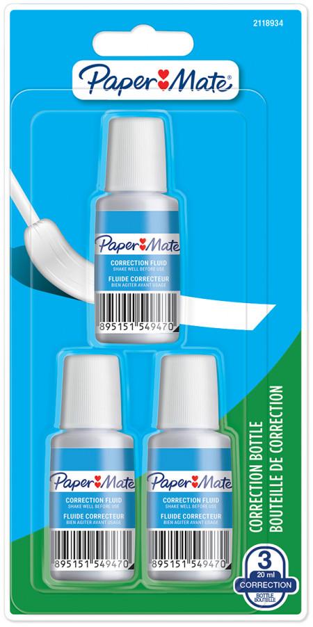 Papermate Blanco Correction Fluid bottle 20ml (Blister of 3)