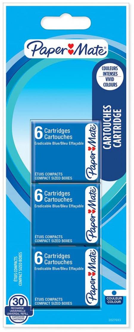Papermate Ink Cartridge - Blue (Pack of 30)