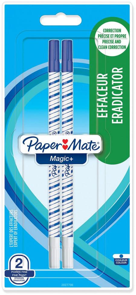 Papermate Magic + Erasable Fineliner Pen - Medium - Blue (Blister of 2)