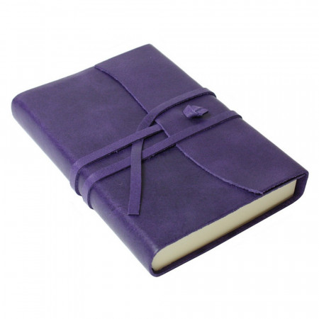 Papuro Amalfi Leather Journal - Aubergine - Small